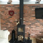 Portway One Contemporary twin-wall flue, tiled hearth
