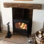 Original brick chamber, stone hearth, Esse 100 MF