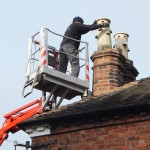 Difficult chimney access a speciality