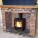 A 5kW Bergen fitted in a new brick fireplace